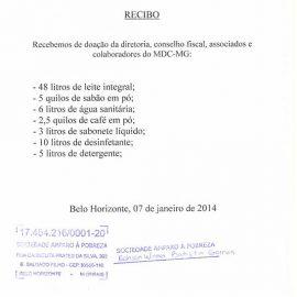 Doação para o Recanto da Saudade [07 janeiro 2014]
