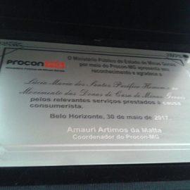 Ministério Público de Minas Gerais homenageia Lúcia Pacífico