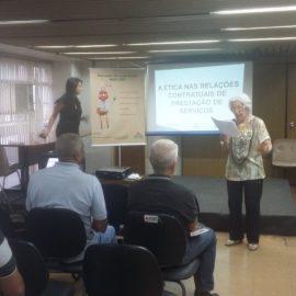 A ética nas relações contratuais da prestação de serviços encerrando o Ciclo de Palestras Projeto Multiplicando Boas Praticas 02