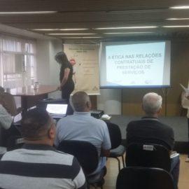 A ética nas relações contratuais da prestação de serviços encerrando o Ciclo de Palestras Projeto Multiplicando Boas Praticas 03