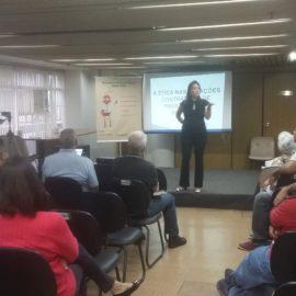 A ética nas relações contratuais da prestação de serviços encerrando o Ciclo de Palestras Projeto Multiplicando Boas Praticas 04