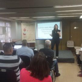 A ética nas relações contratuais da prestação de serviços encerrando o Ciclo de Palestras Projeto Multiplicando Boas Praticas 05